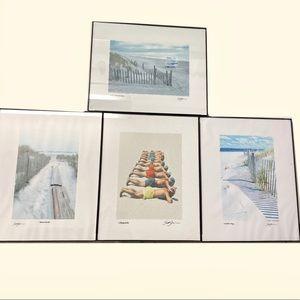 Set of 4 beach prints